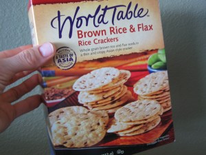 Brown Rice & Flax Crackers
