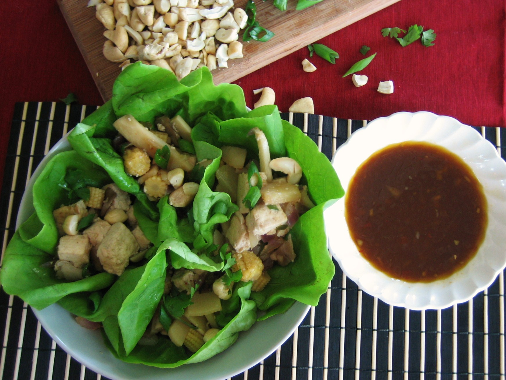 tofu vegan lettuce cups vegetarian lettuce wraps leave a comment