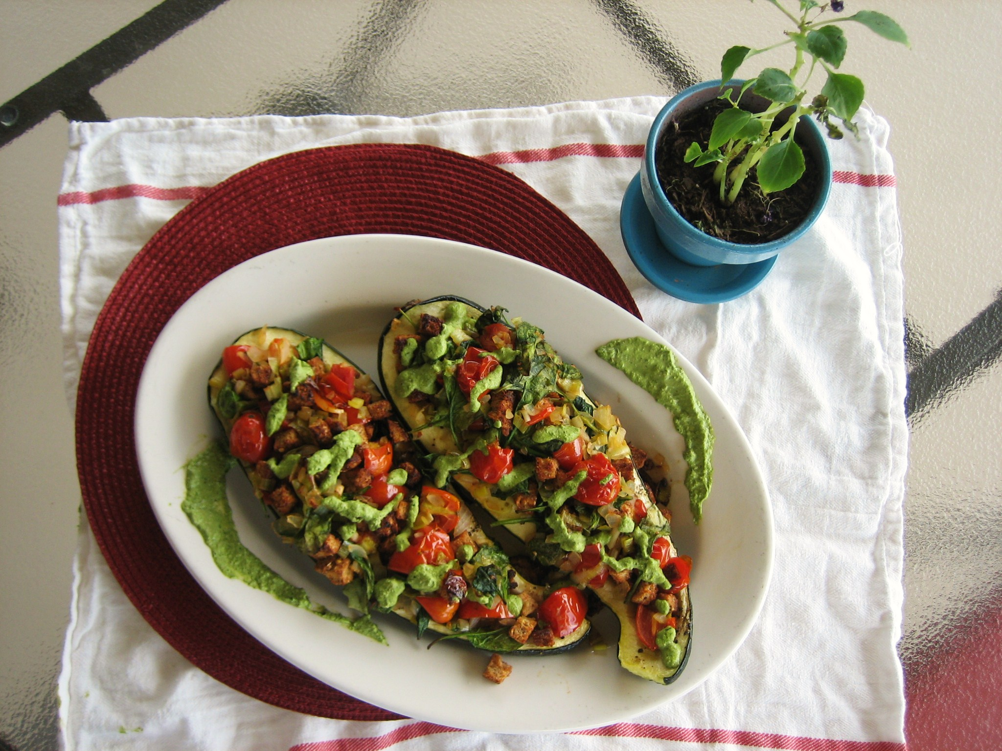 Meatless Stuffed Zucchini Recipes
