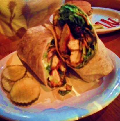 Cafe Vita's Buffalo Tofu Wrap