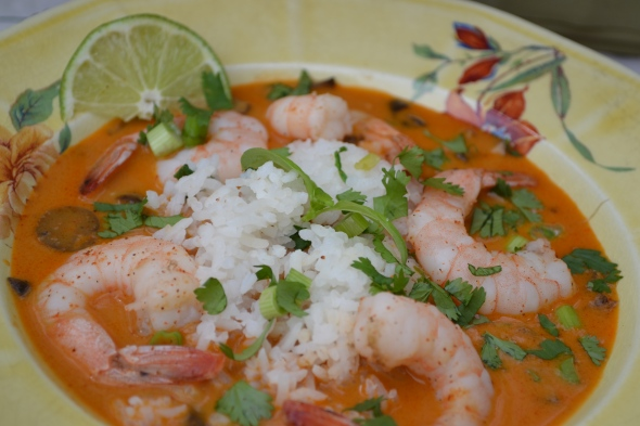 Panang Curry with Shrimp