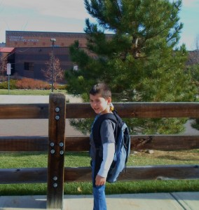 George on his first day of Kindergarten, here in Colorado, last week!