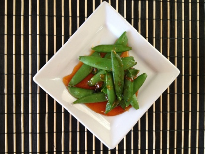 Two ingredient, five minute side or snack. Sweet, spicy, delicious.