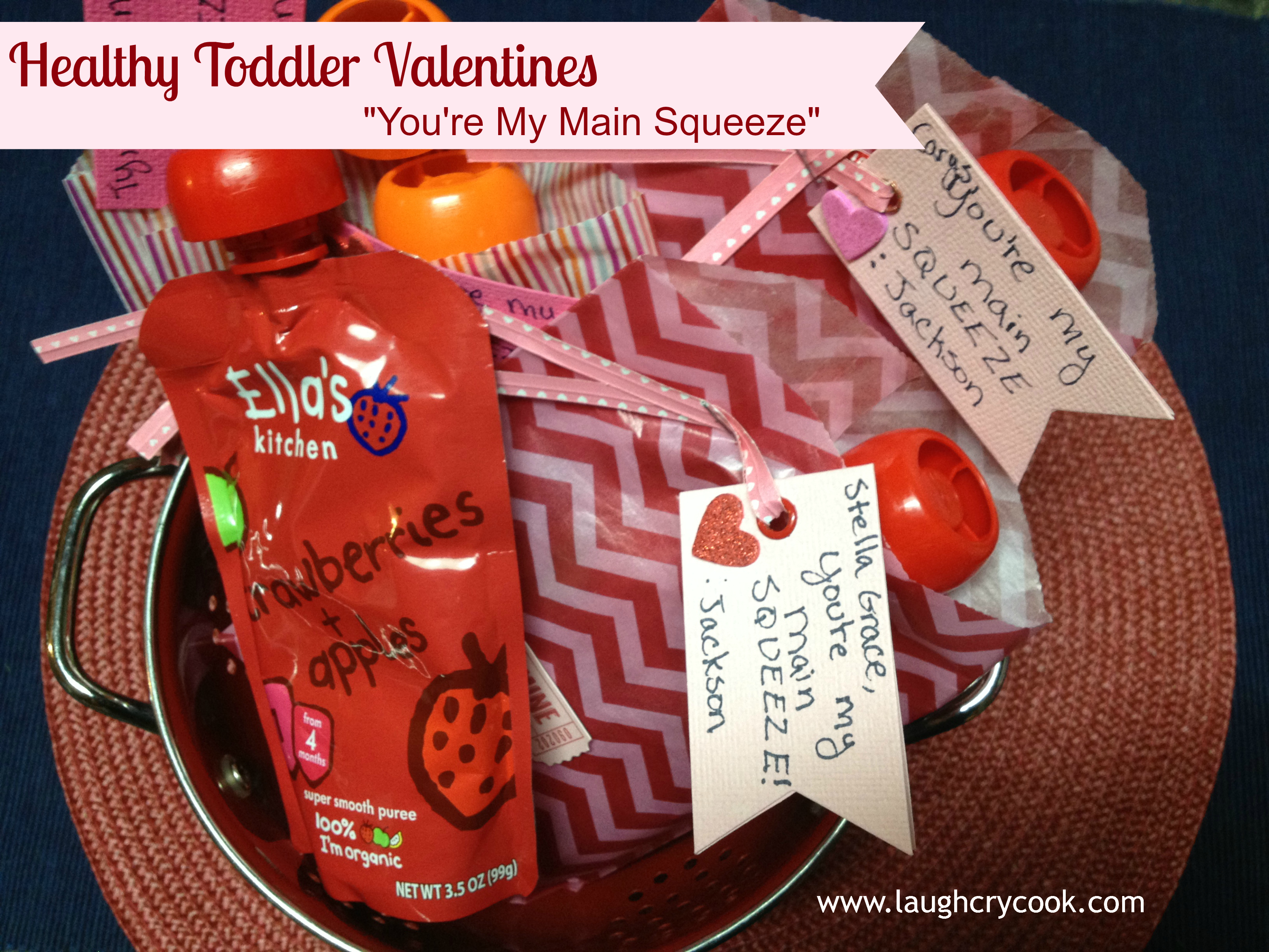 """You're My Main Squeeze"" Squeeze Pouch Valentines 