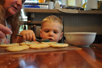 Keeping family traditions alive, with these egg-free and optionally dairy-free sugar cookies.