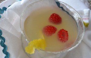 lemon drop martini raspberries and red pepper spicy hummus 018