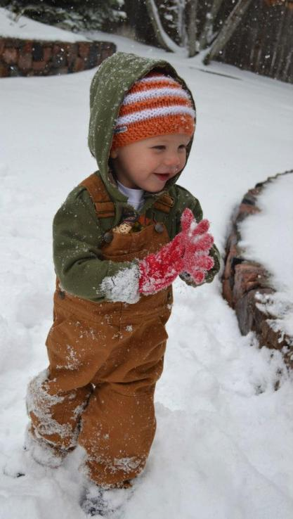 This Texas boy has never seen this much snow. He loved it.