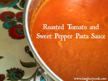 Roasted Tomato and Sweet Pepper Pasta Sauce