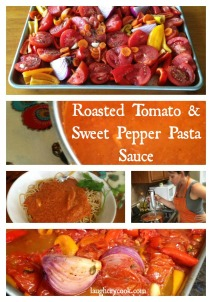 Roasted Tomato and Sweet Pepper Pasta Sauce -- Laugh, Cry, Cook