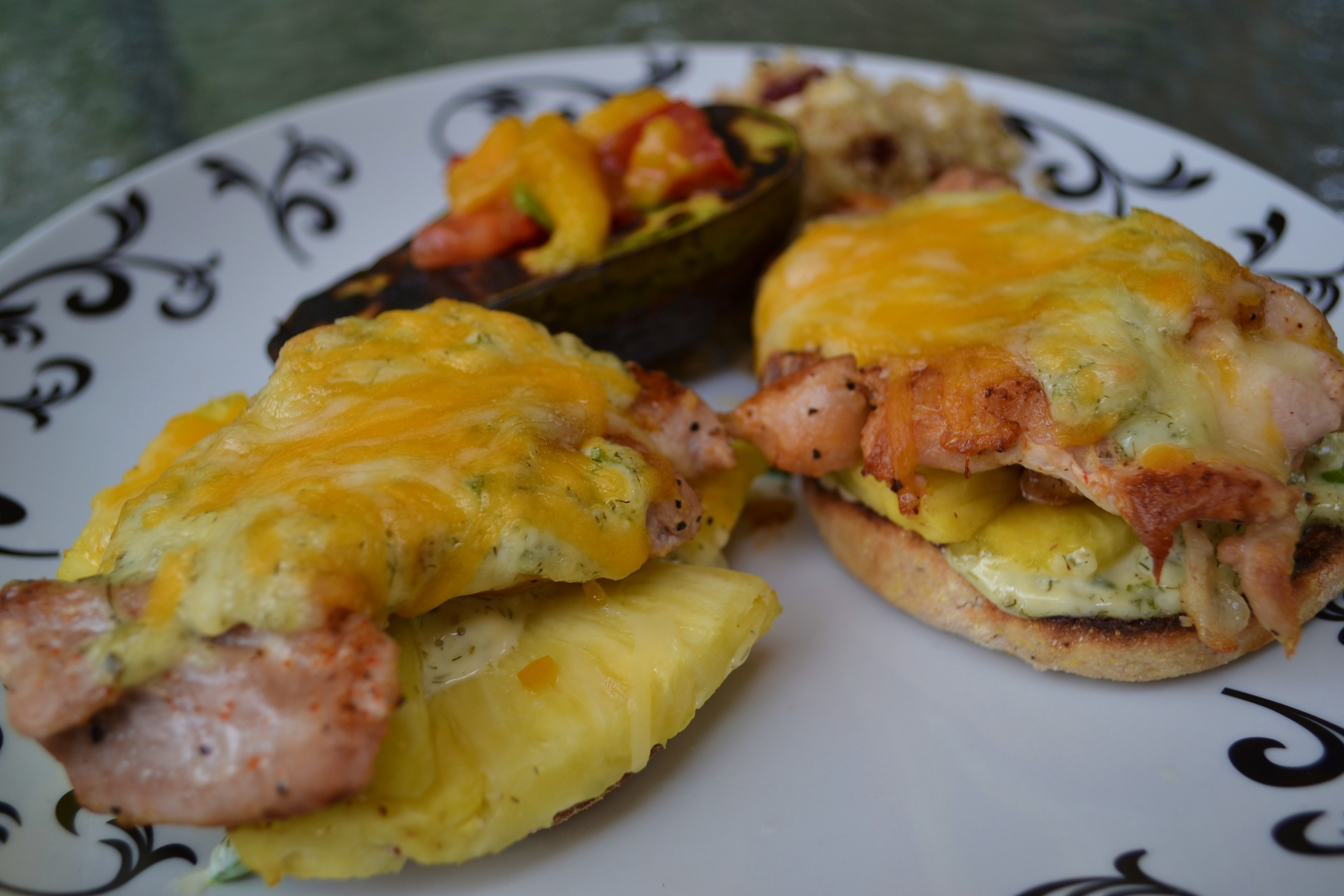 Chicken with pineapple and cheese in the oven: recipe 85