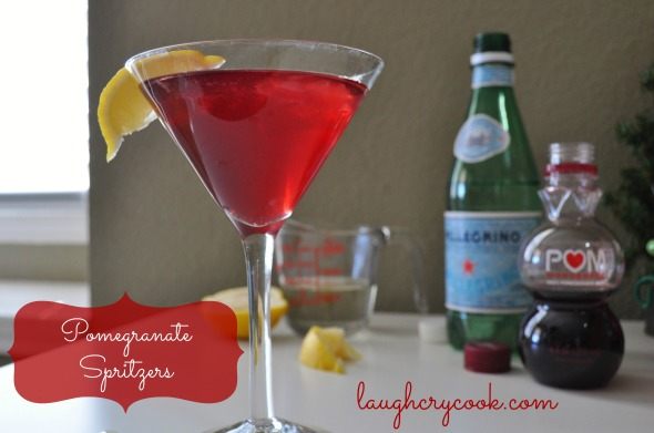 Pomegranate Spritzers - Laugh, Cry, Cook