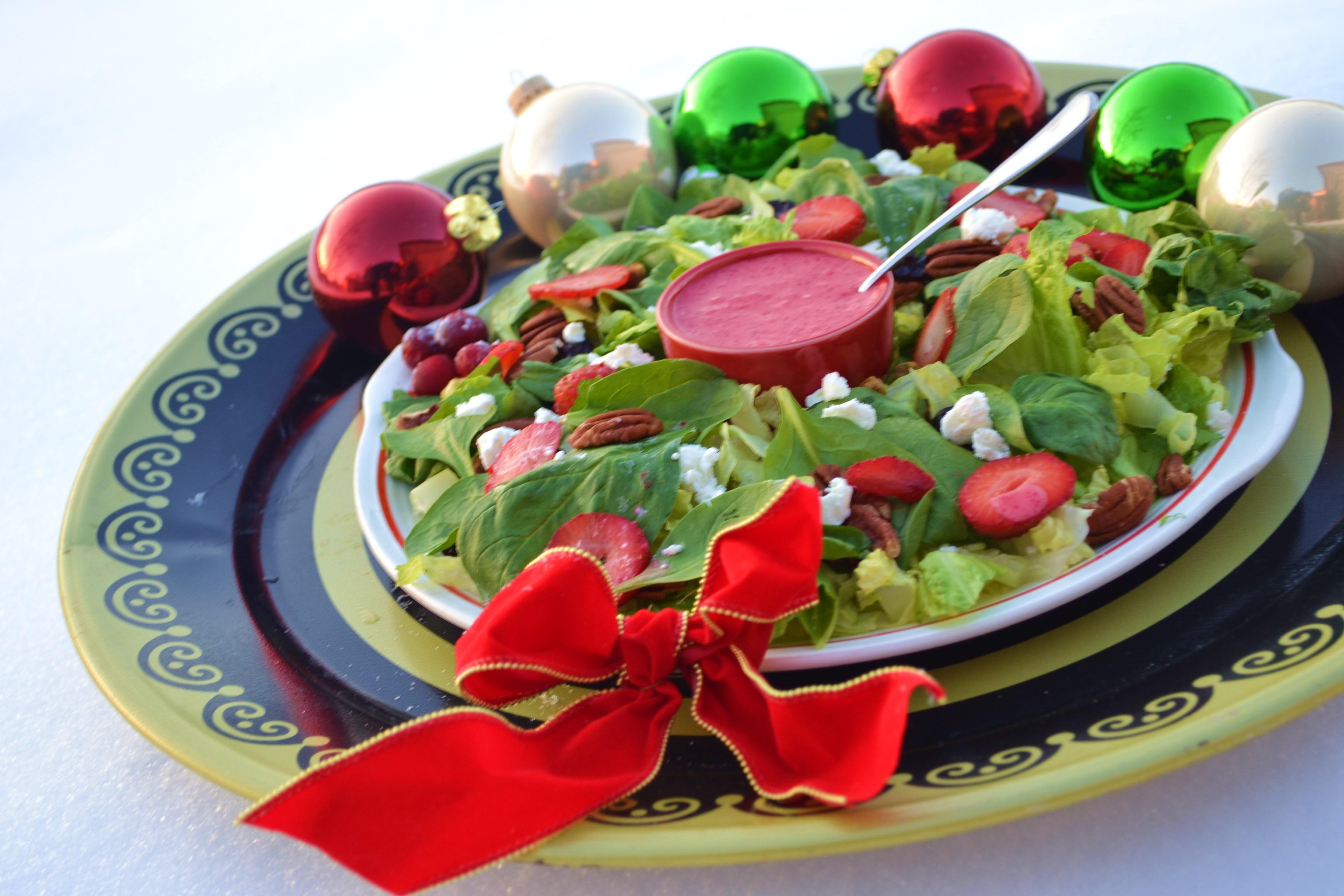Christmas Wreath Salad With Cranberry Orange Vinaigrette We Laugh