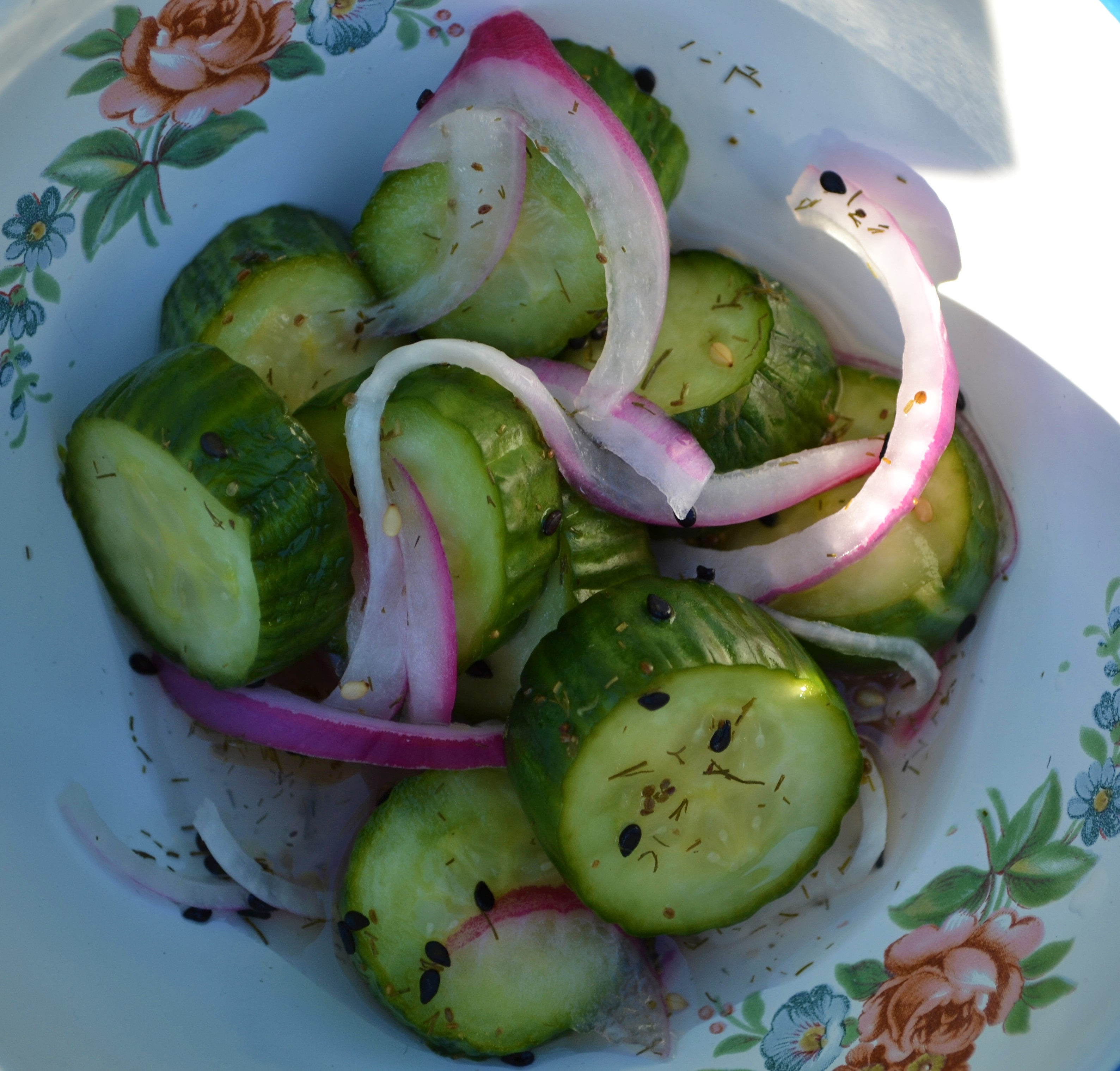 Crunchy, Easy, Refrigerator Pickled Cucumbers & Red Onions