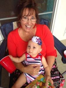 A new friend-in-the-making, Miss Gabey -- at this year's 4th of July party