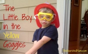 Little Boy in Yellow Goggles