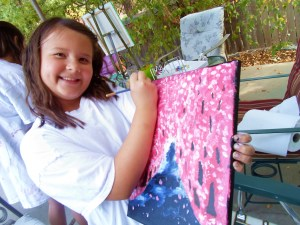 My niece Whitney..we spent a fun, memorable day painting on my back porch together.
